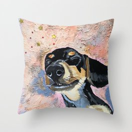 Dreaming Doggo Throw Pillow