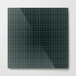 Green and Blue Plaid Metal Print