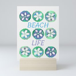 Watercolor Sand Dollar Mini Art Print