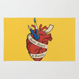 Head, heart & hustle Rug