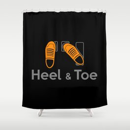 Heel & Toe Shower Curtain