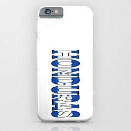 Honduras Font with Honduran Flag iPhone Case
