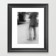 Catching The Bus Framed Art Print