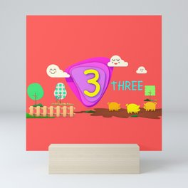 Number three - Kids Art Mini Art Print