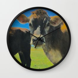 Jai Cow at Preetirang Sanctuary Wall Clock