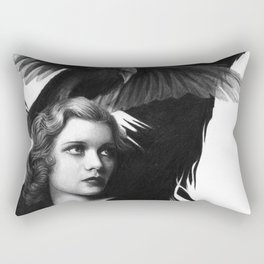 Lady and the Raven Rectangular Pillow