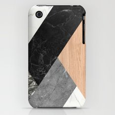 Marble and Wood Abstract iPhone (3g, 3gs) Slim Case