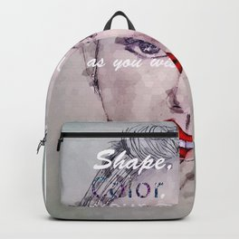 Shape and Color Your Own Life Backpack