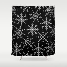 Give Me a Black & White Christmas - 3 Shower Curtain