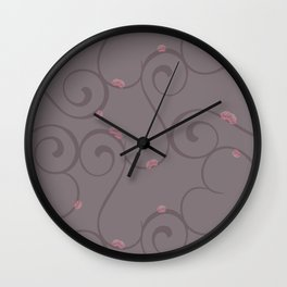 Amour Pattern Wall Clock