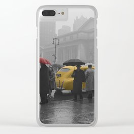 Yellow Cabs New York 3 Clear iPhone Case