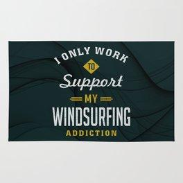 Windsurfing Extreme Sport Rug