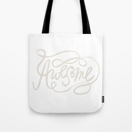Hand Lettered Awesome Tote Bag