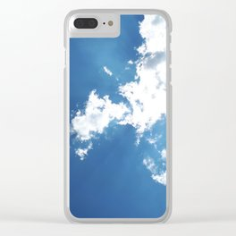 Clouds and Sun Beams Clear iPhone Case