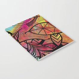 Crazy Leaves  Notebook