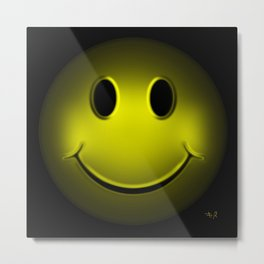 smiley 16 Metal Print