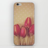 antique iPhone & iPod Skins featuring Antique Tulips by Jessica Torres Photography