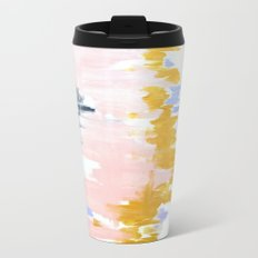 Multicolor spring abstract Metal Travel Mug