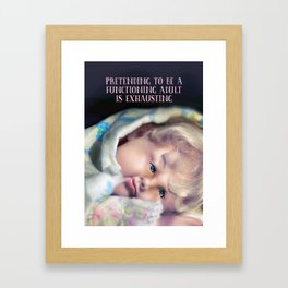 Exhausted Framed Art Print