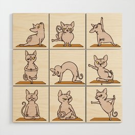 Sphynx Cat Yoga Wood Wall Art