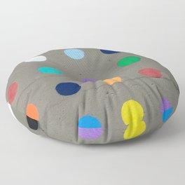 Colored dot Floor Pillow