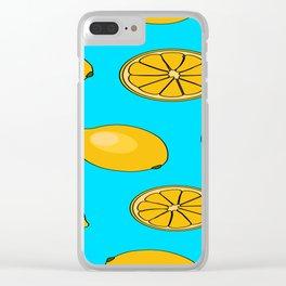 Lemon fruit pattern Clear iPhone Case
