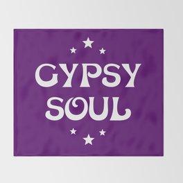 Gypsy Soul Mystical Stars Purple Throw Blanket
