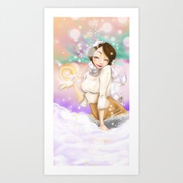Wintery Magic  Art Print