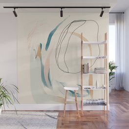 Abstract Lines On Cream. Wall Mural