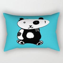 Patchwork Panda Bear Rectangular Pillow