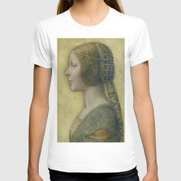 Golden woman - Leonard Da Vinci T-shirt