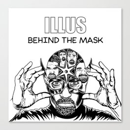 ILLUS: Behind the Mask Canvas Print