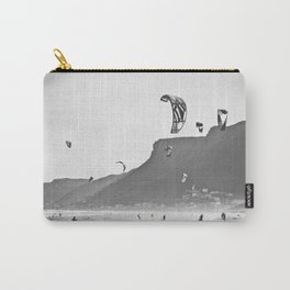 Windsurfers having fun on the Atlantic Ocean - Landscape Photography #Society6 Carry-All Pouch