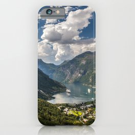 Geiranger Fjord Norway Mountains iPhone Case