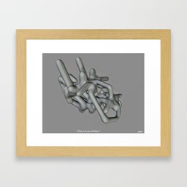 What Were You Thinking ? Framed Art Print