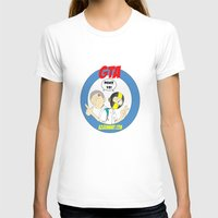 gta T-shirts featuring GTA - Mat Botak + Ninja Boy with Circle Behind by Azlee Mahat