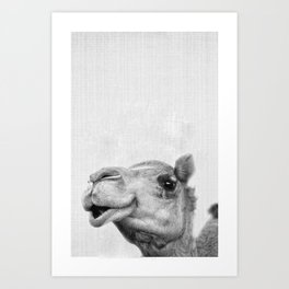 Camel Headshot Art Print