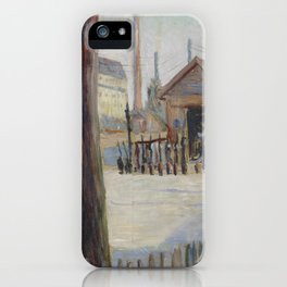 Railway Junction near Bois-Colombes iPhone Case