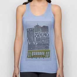 New Orleans City Cityscape Unisex Tank Top