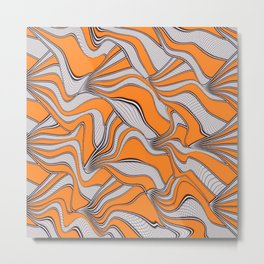 foolish movements swirl orange Metal Print