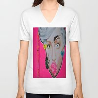 artrave V-neck T-shirts featuring artRAVE by Sabino Martinez