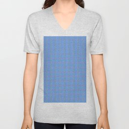 Blue Q Cube Brock Pattern Unisex V-Neck