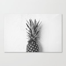 Black and white pineapple Canvas Print