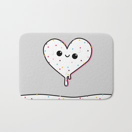 heart of ice (cream) Bath Mat