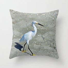 A Snowy Strut Throw Pillow