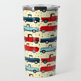 Winter Vintage Trucks Travel Mug