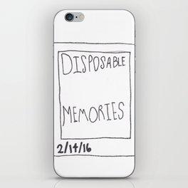 Disposable Memories iPhone Skin