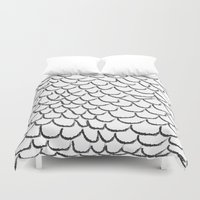 angel wings Duvet Covers featuring angel wings by her art