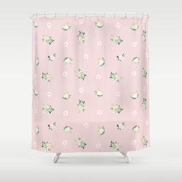 pink florals Shower Curtain