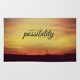 Dwell in Possibility Emily Dickinson Rug